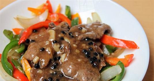 Thịt bò sốt tiêu đen cay cay đậm vị ăn hoài không bao giờ chán